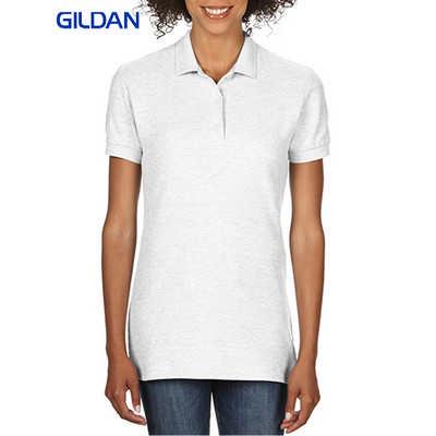 Gildan Premium Cotton Ladies Double Pique Sport Shirt White